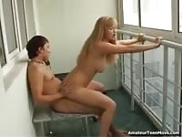 Sex in front of window