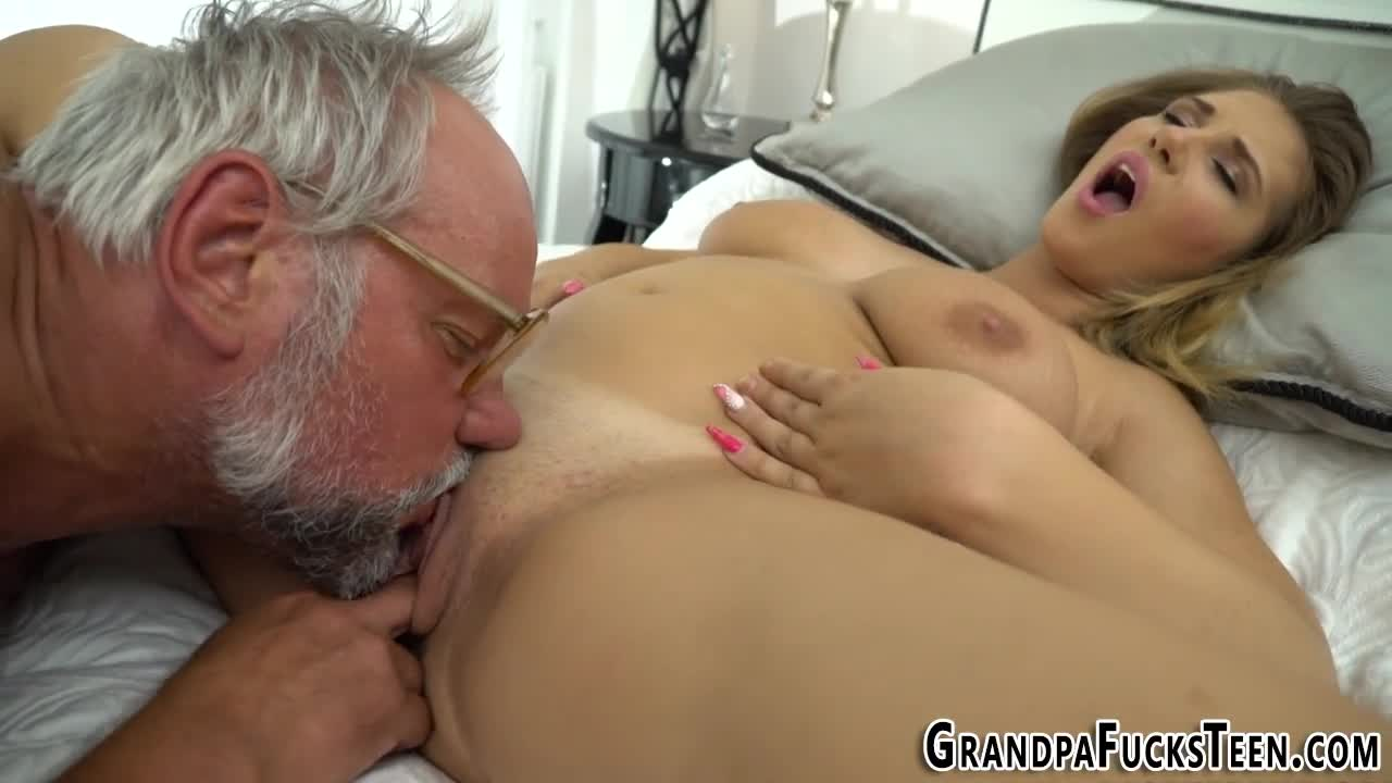 Grandpa lick my pussy Busty Gal Eaten And Fucked Out By Grandpa Al4a
